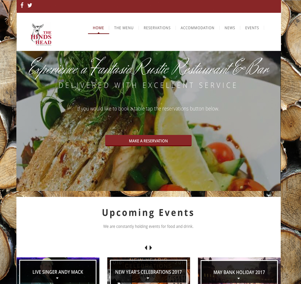 Chorley restaurant website designer